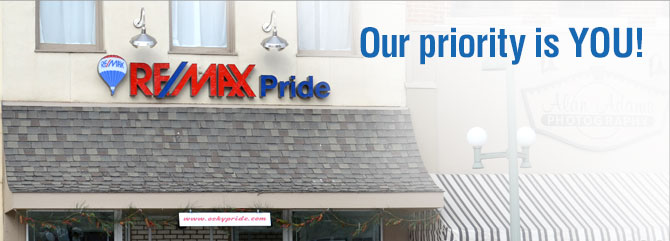 Homepage banner for RE/MAX PRIDE